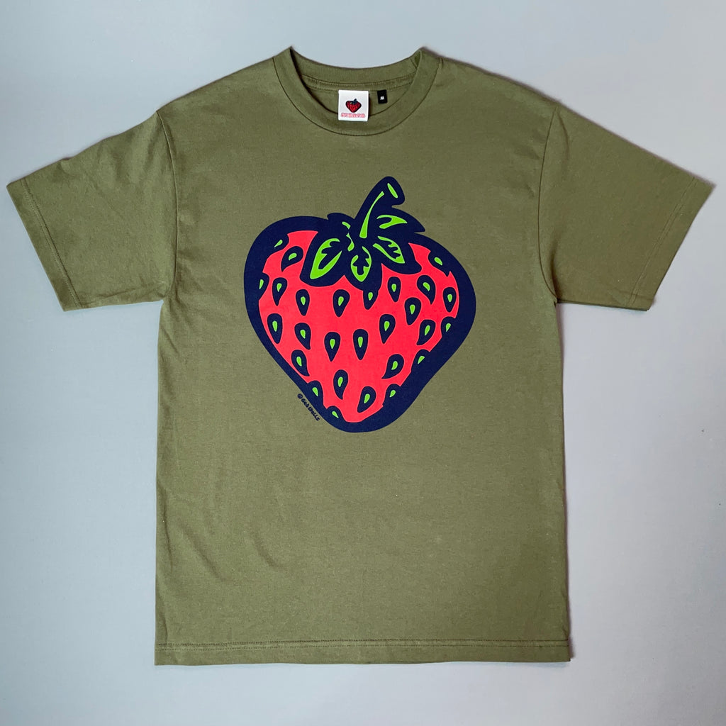 Insane Strawberry Edition Military Green T-Shirt