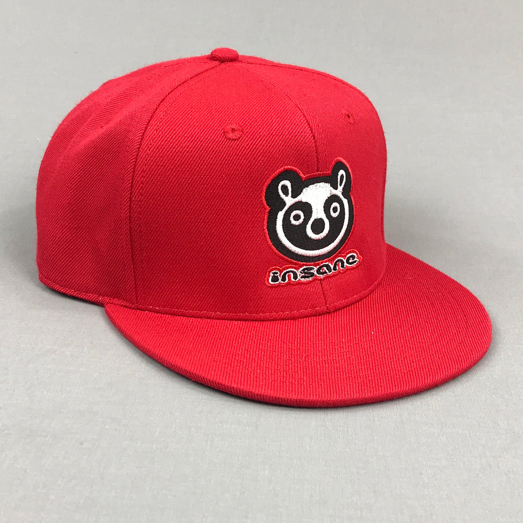 Insane Panda Red Snapback Cap