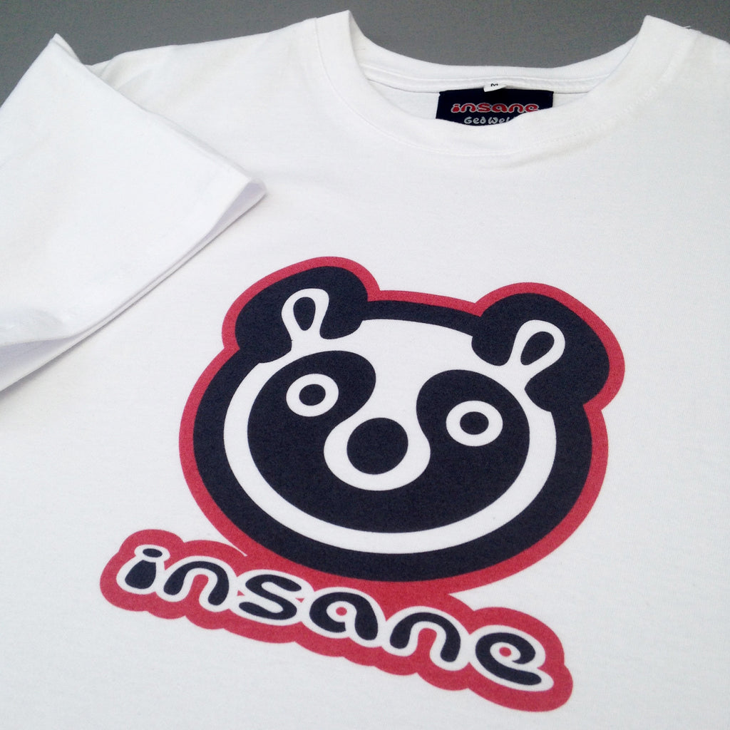 Panda Head, white T shirt.