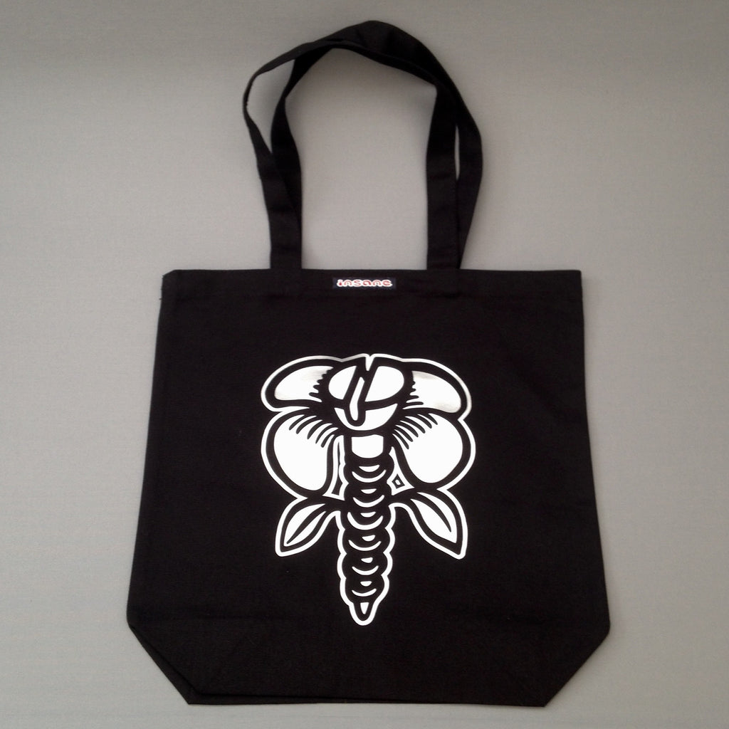 Insane Screw Flower Tote Bag
