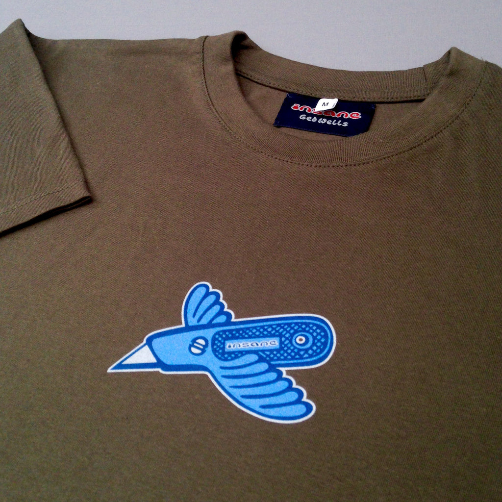 Stanley Bird army green T shirt