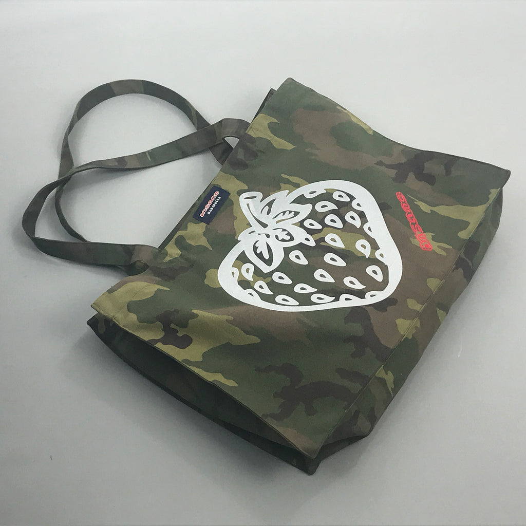 Insane Strawberry Camo Canvas Shopper Bag