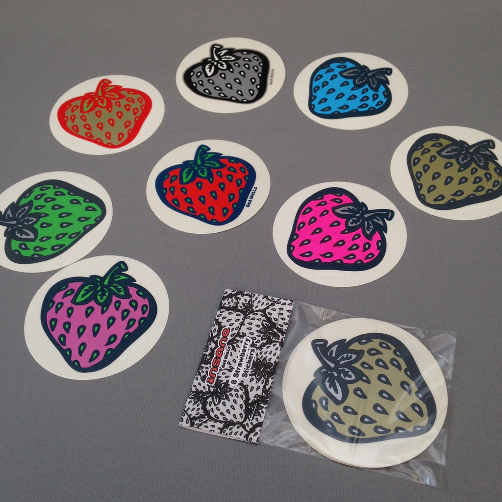 Strawberry multi colour sticker pack