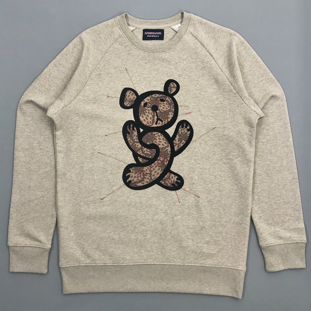 Insane Twisted Teddy Layered Applique Crew Sweat.