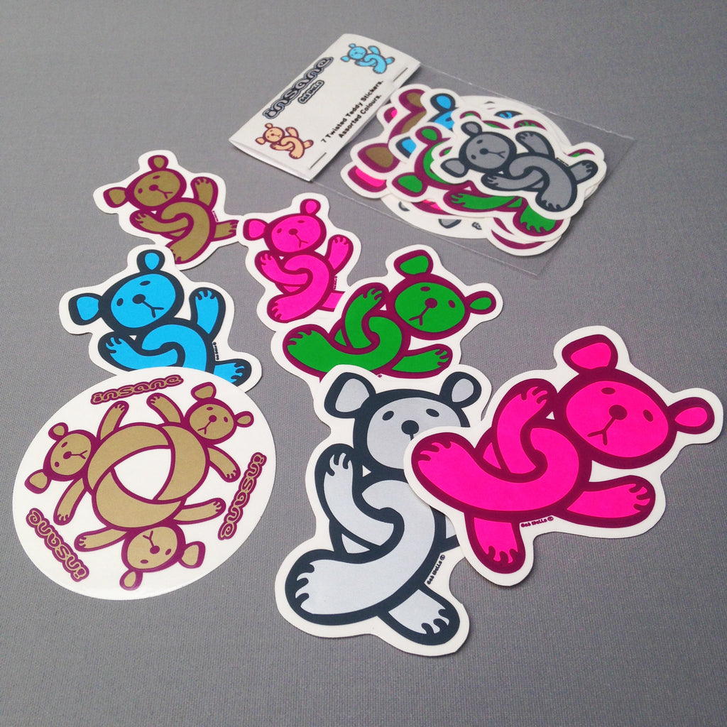 Insane Twisted Teddy sticker pack.