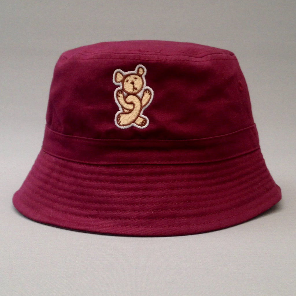 Twisted Teddy burgundy floppy hat.