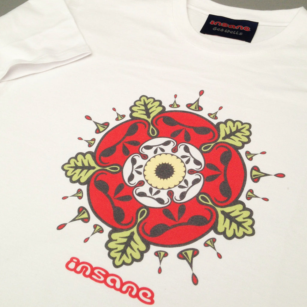 Tudor Rose Skulls white T shirt