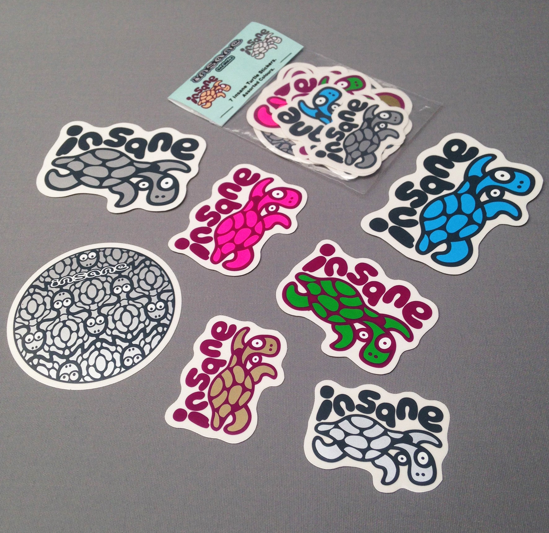 Insane Turtle sticker pack.