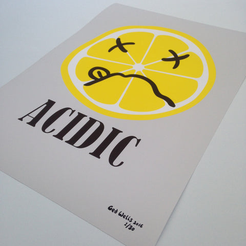 Acidic lemon Giclée print