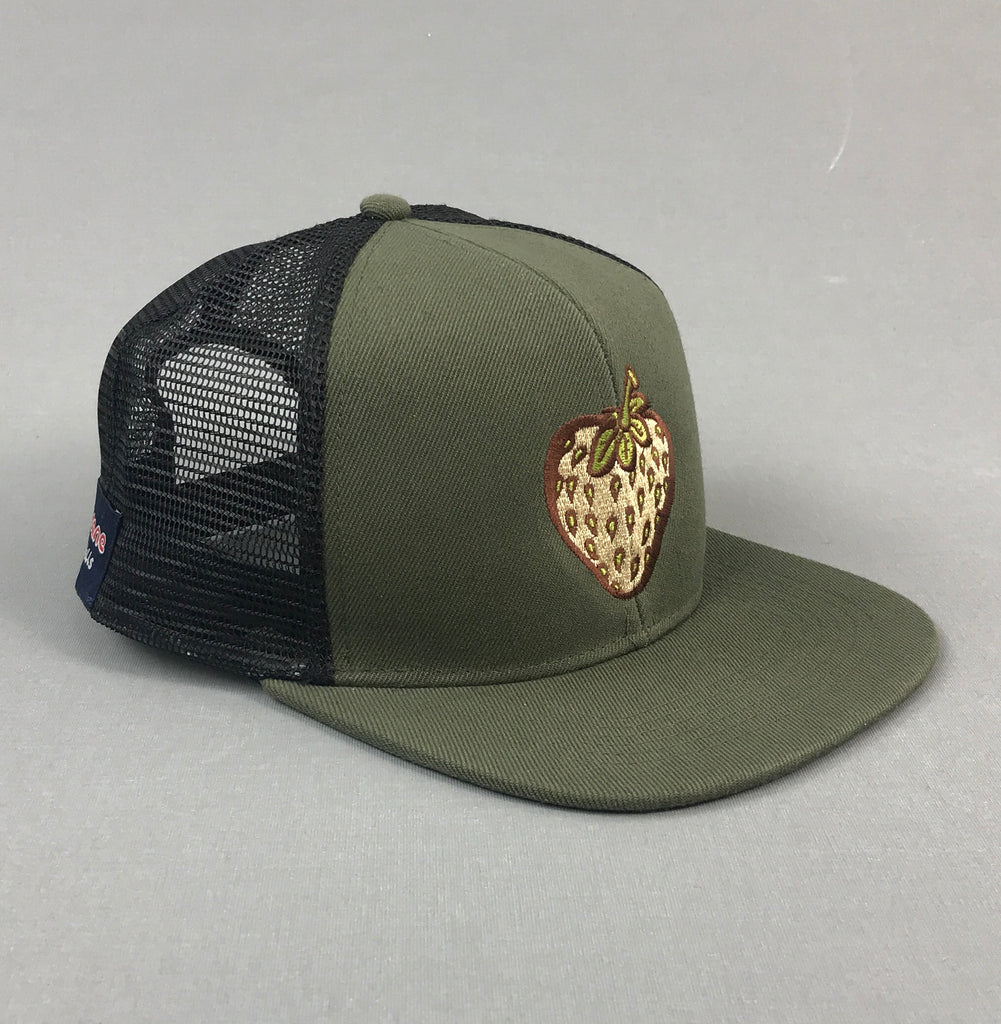 Insane Strawberry Field Khaki Mesh Cap