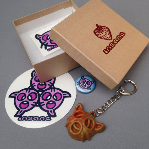 CAT HEAD Key Ring