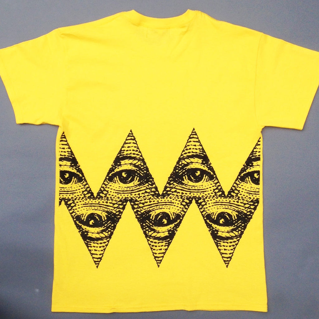 All Seeing Charlie Brown Yellow T shirt.