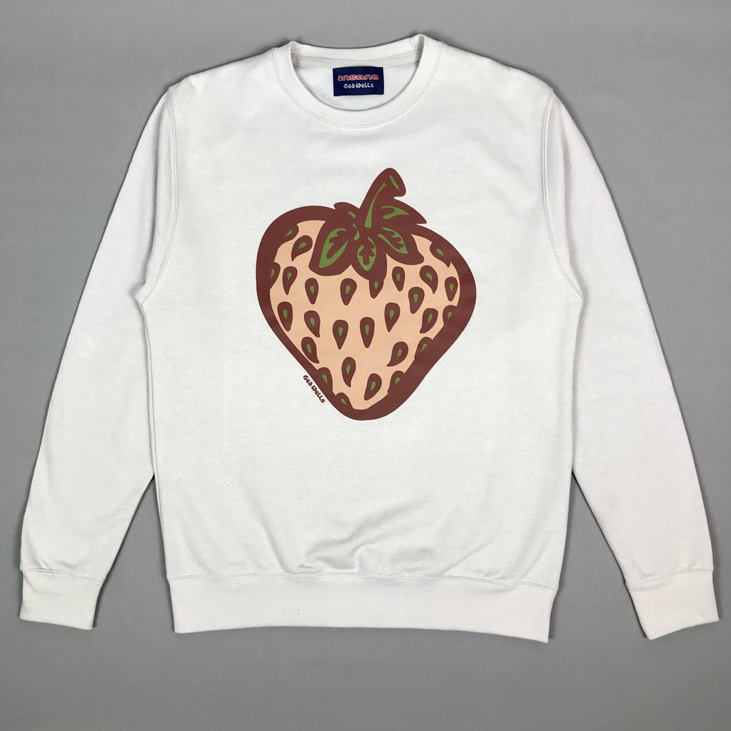 Insane Strawberry Field Camo Grey Crew Sweat.