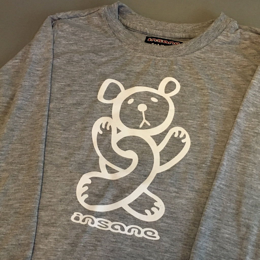Insane Kids Twisted Teddy Grey Long Sleeve T Shirt