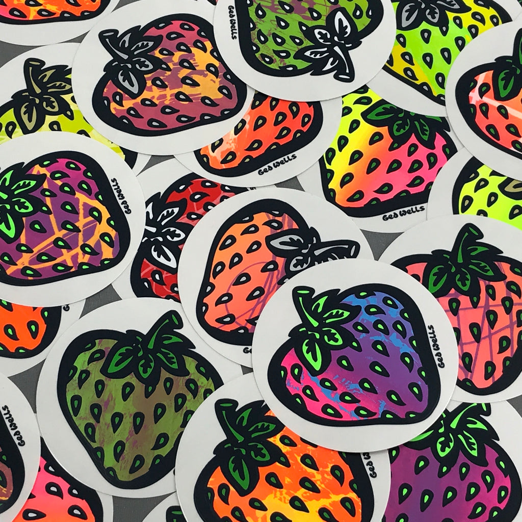 Insane Strawbedelica sticker pack