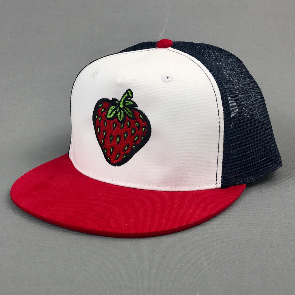 Insane Strawberry Red/White/Blue Mesh Cap