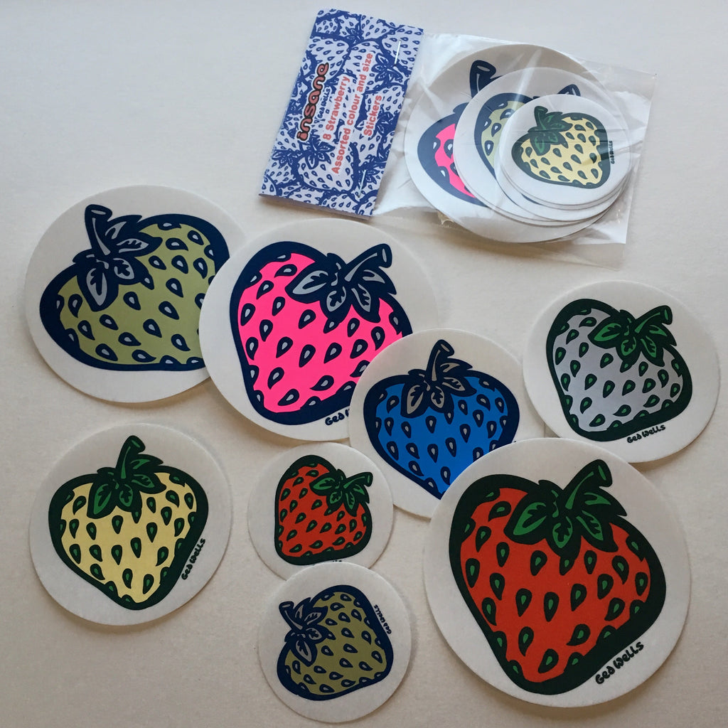 Strawberry variety sticker pack