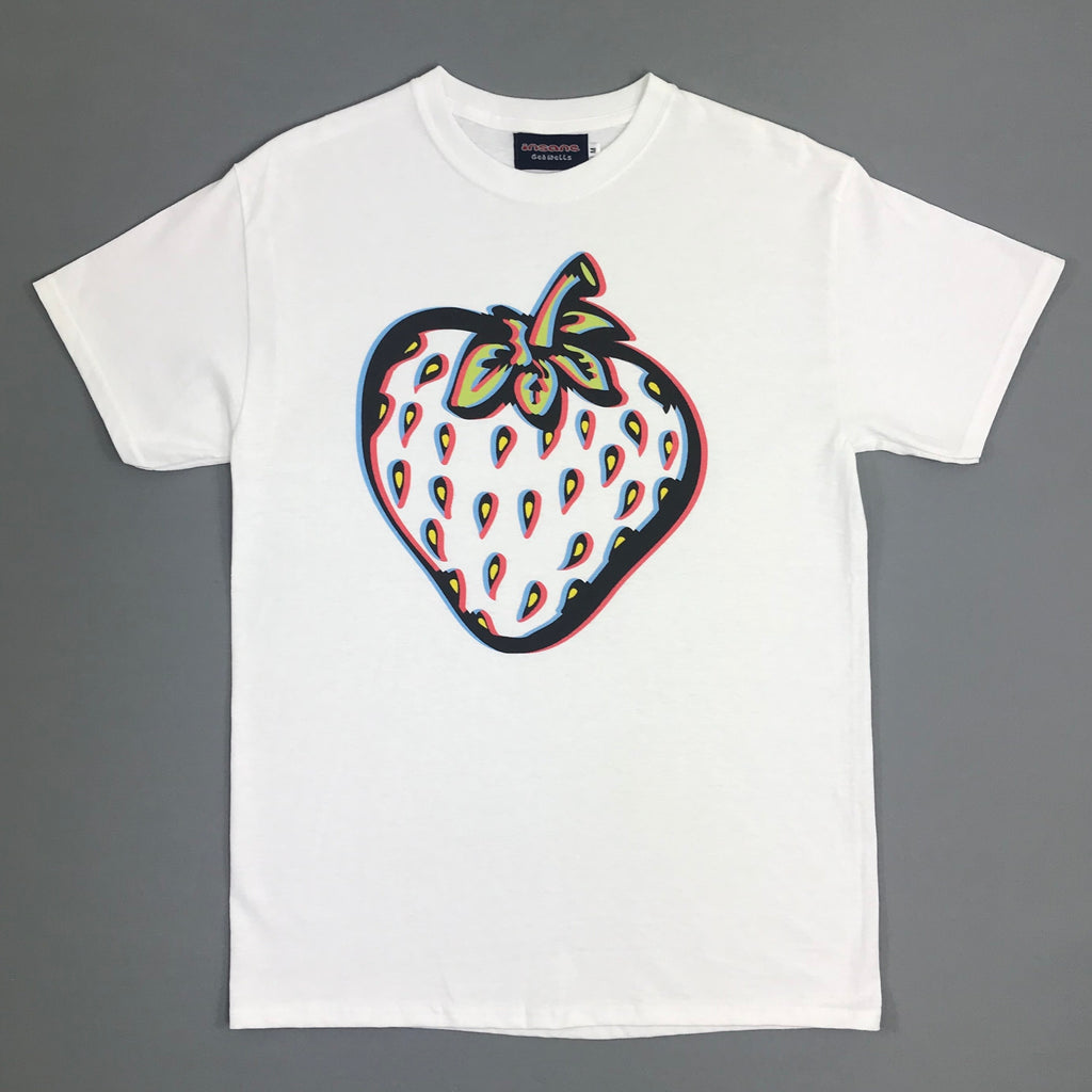Insane 3D Strawberry White T shirt.