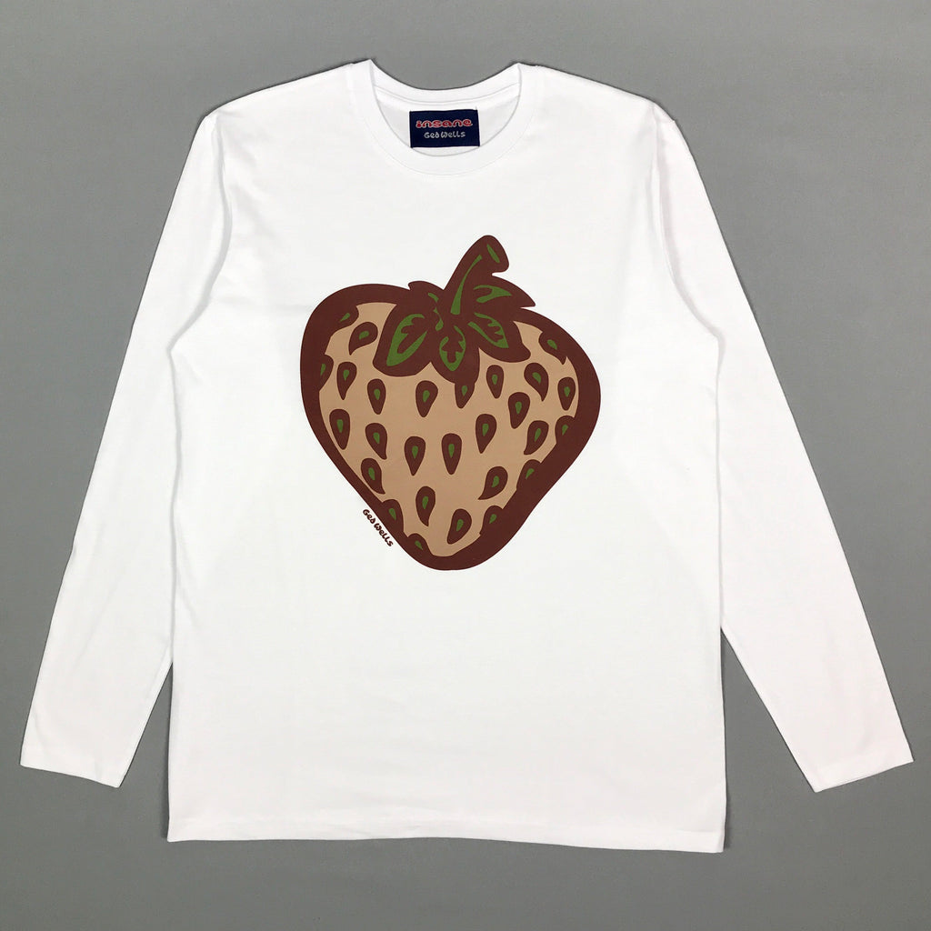 Insane Strawberry Field Camo Long Sleeve White T shirt.