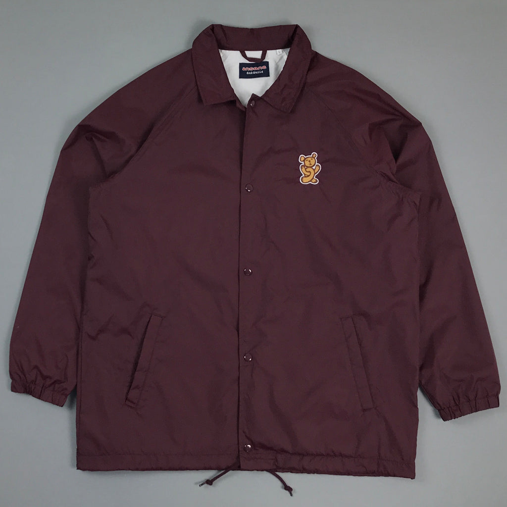 Insane Twisted Teddy Oxblood Coach Jacket