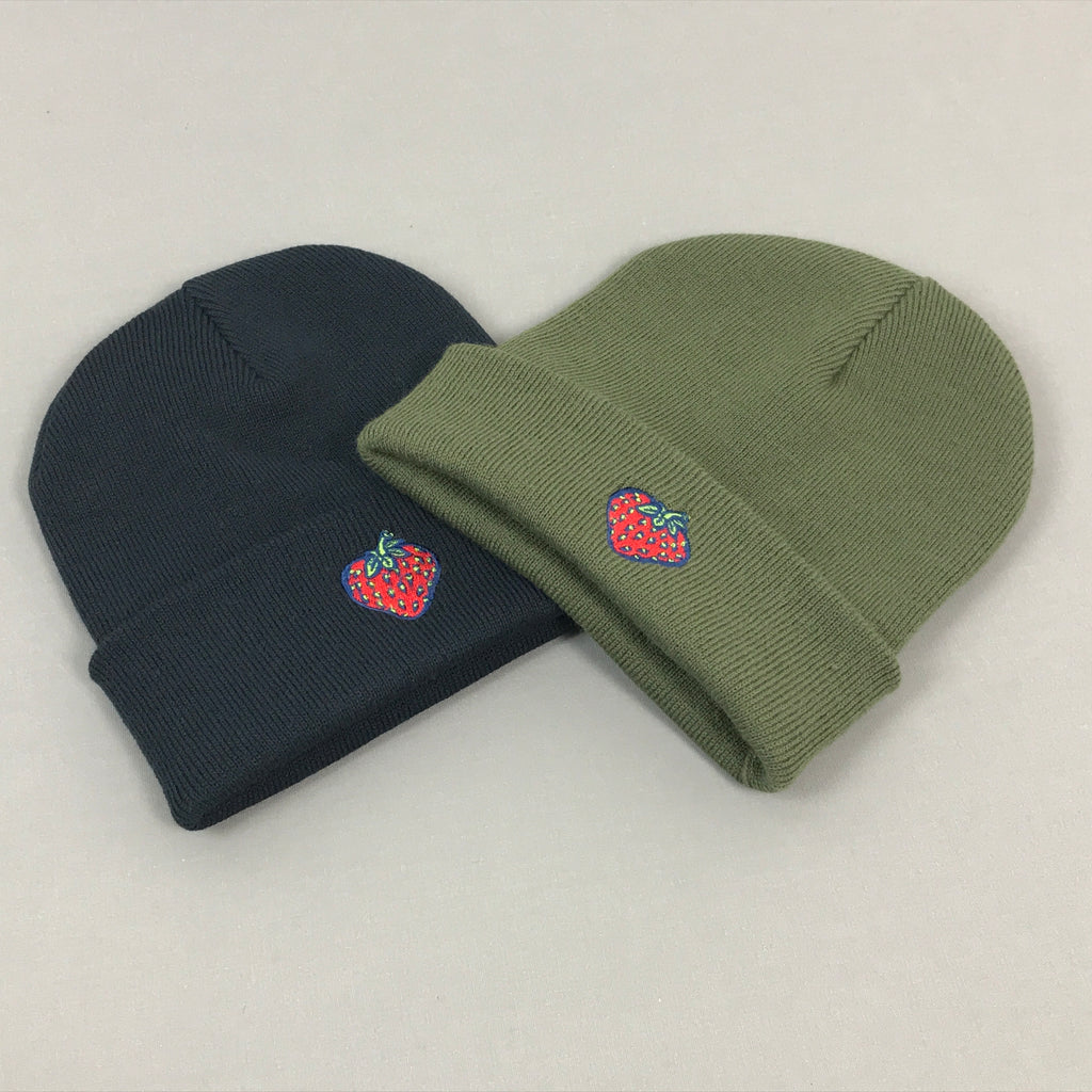 Insane Strawberry Cuffed Beanies