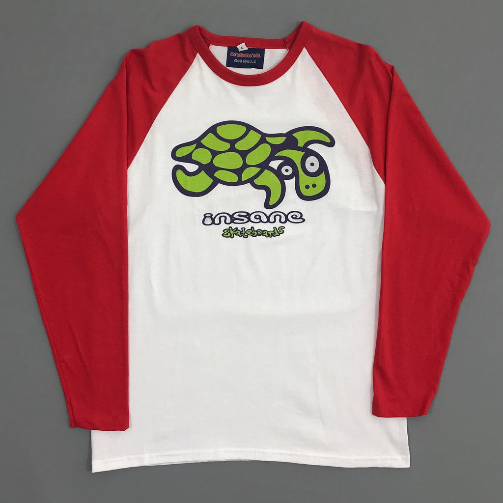Insane Turtle contrast raglan long sleeve T