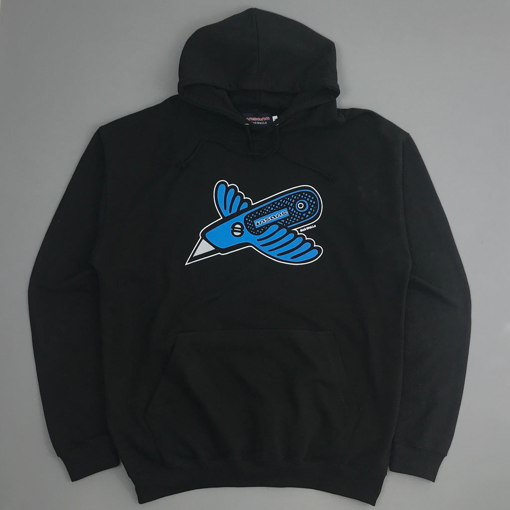 Insane Stanley Bird Black Hooded Sweat