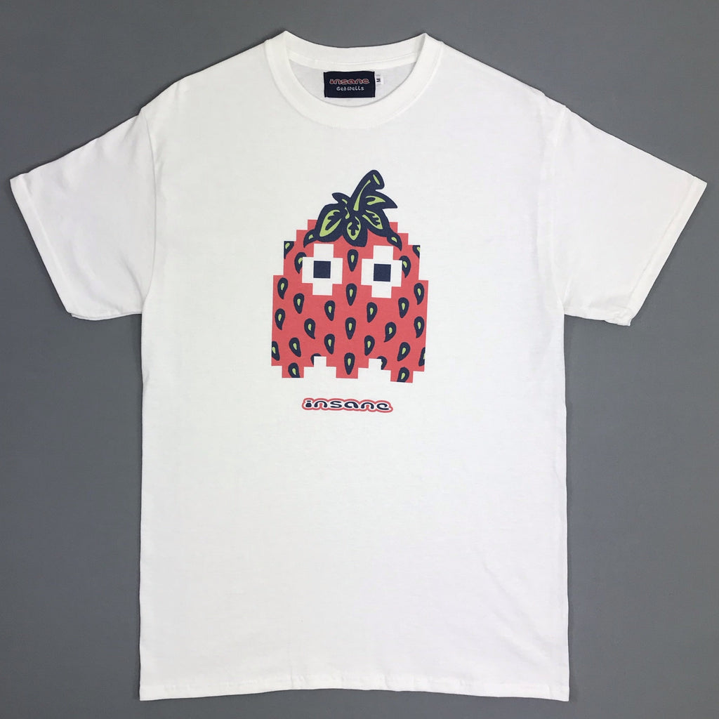 Insane Strawberry Ghost White T Shirt.
