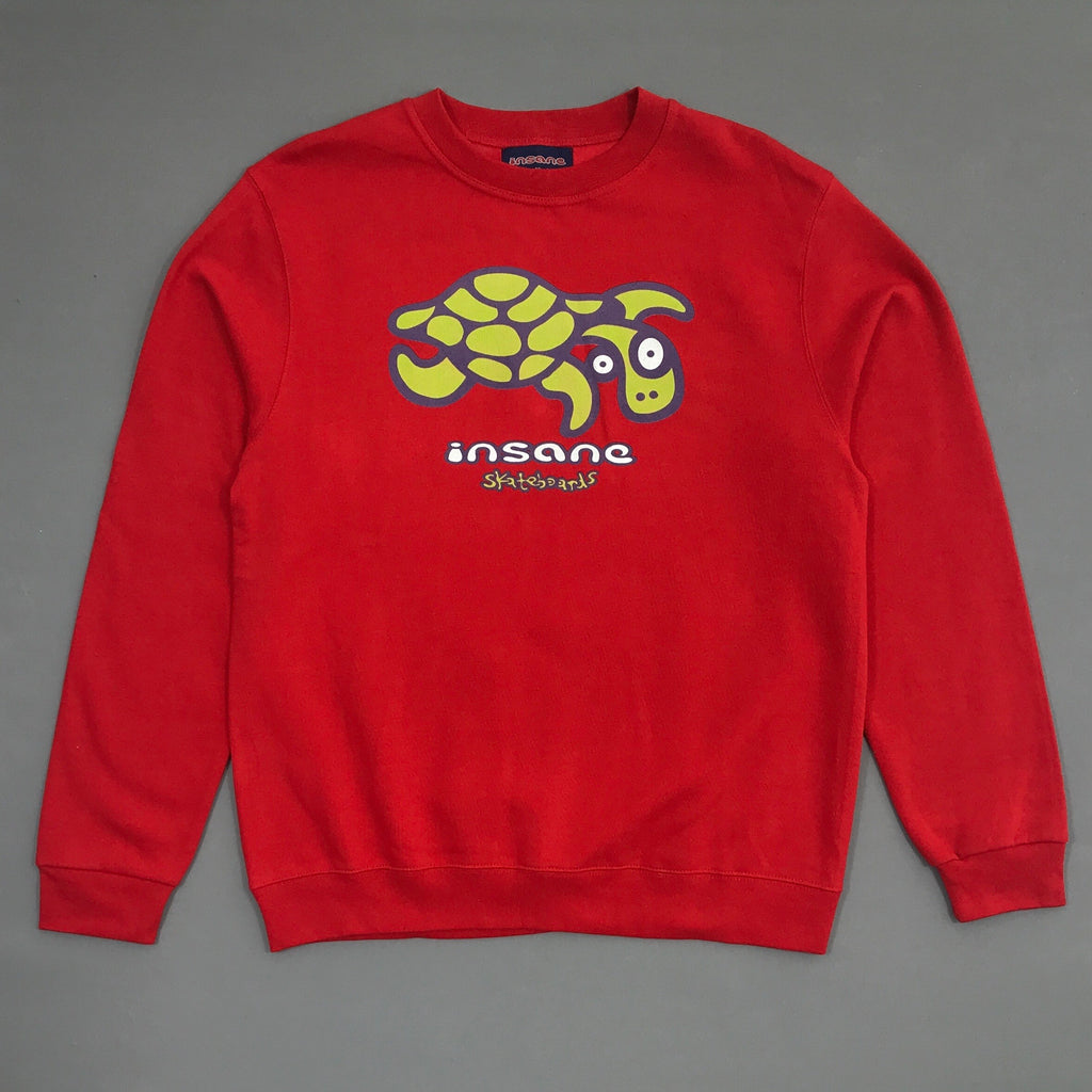 Insane Turtle Red Crew Sweat