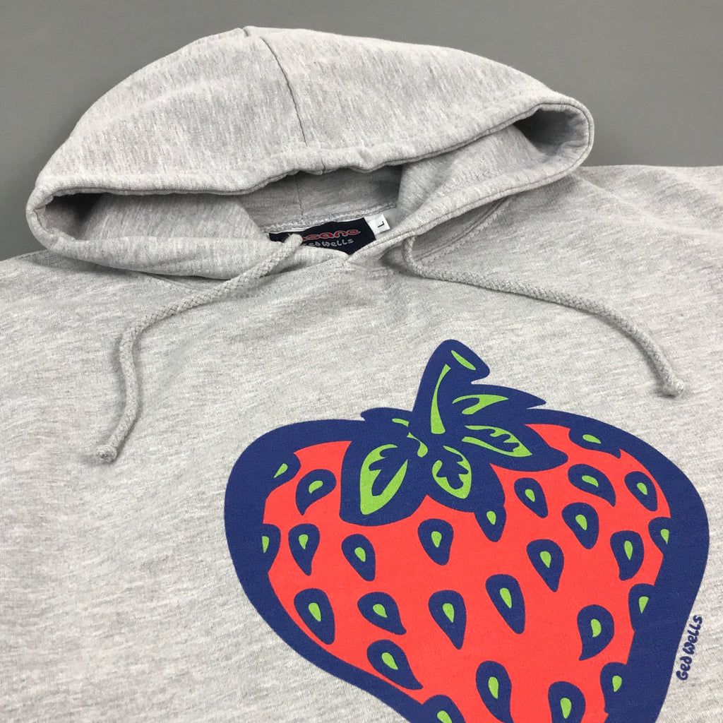 Insane Strawberry Grey Hooded Sweat