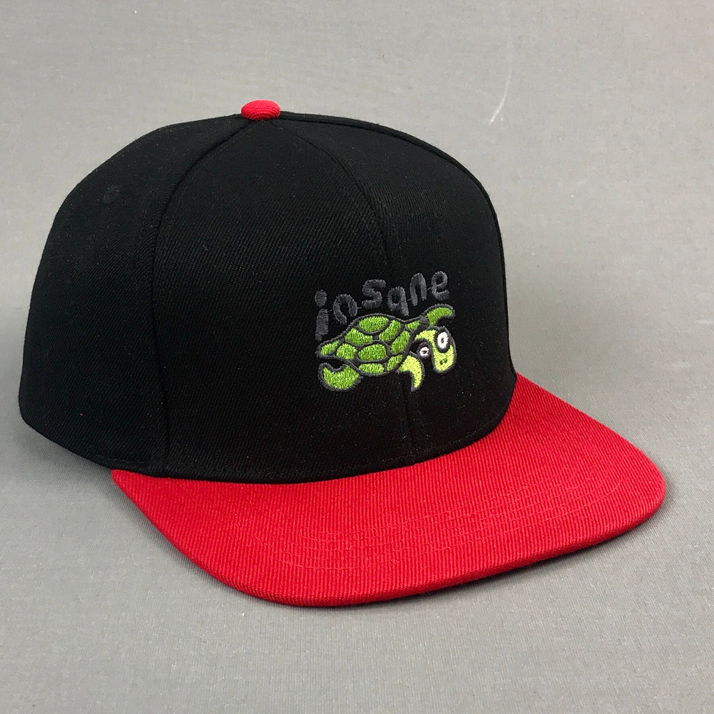 Insane Turtle Black and Red SnapBack Cap