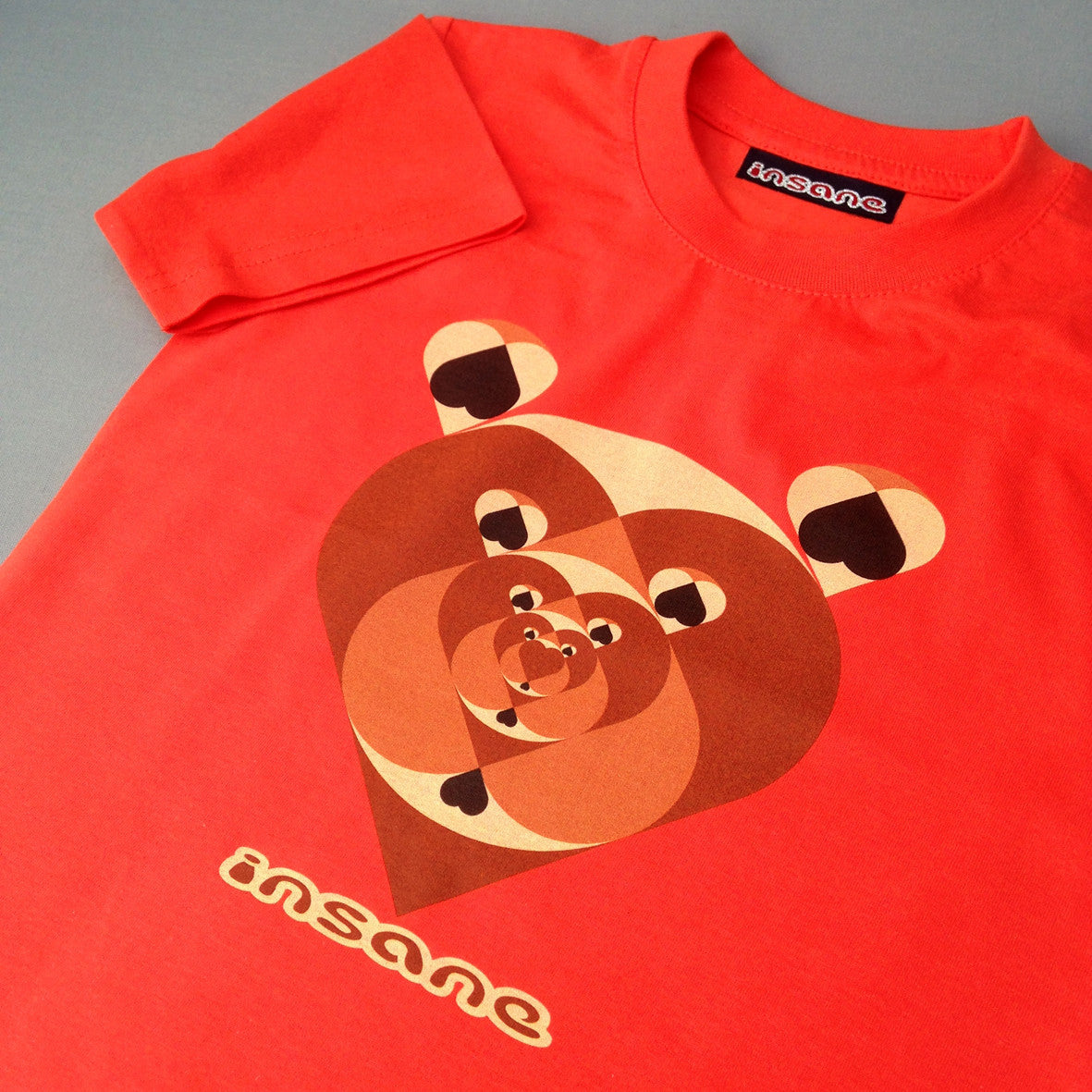 Insane Kids; Tunnel of Love Bears T Shirt.