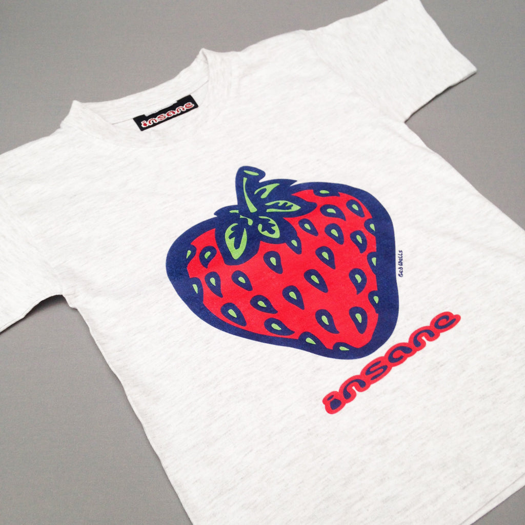 Insane STRAWBERRY, Kids grey T shirt