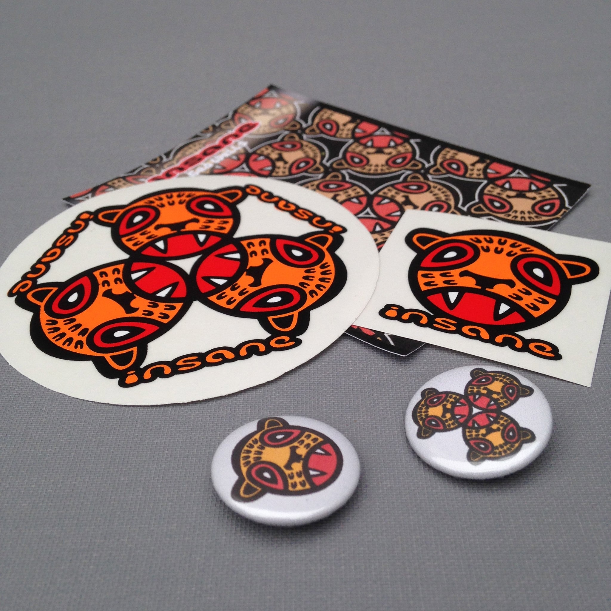 LEOPARD CUB Sticker and badge pack