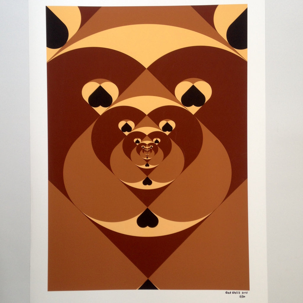 Tunnel of love Bears, A1 Giclée print