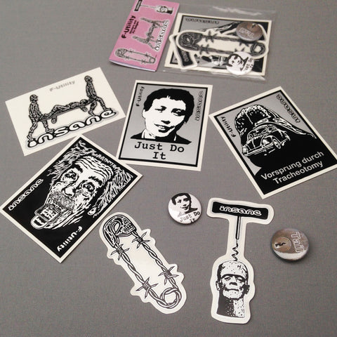 F-Utility Sticker/Pin Badge Pack.