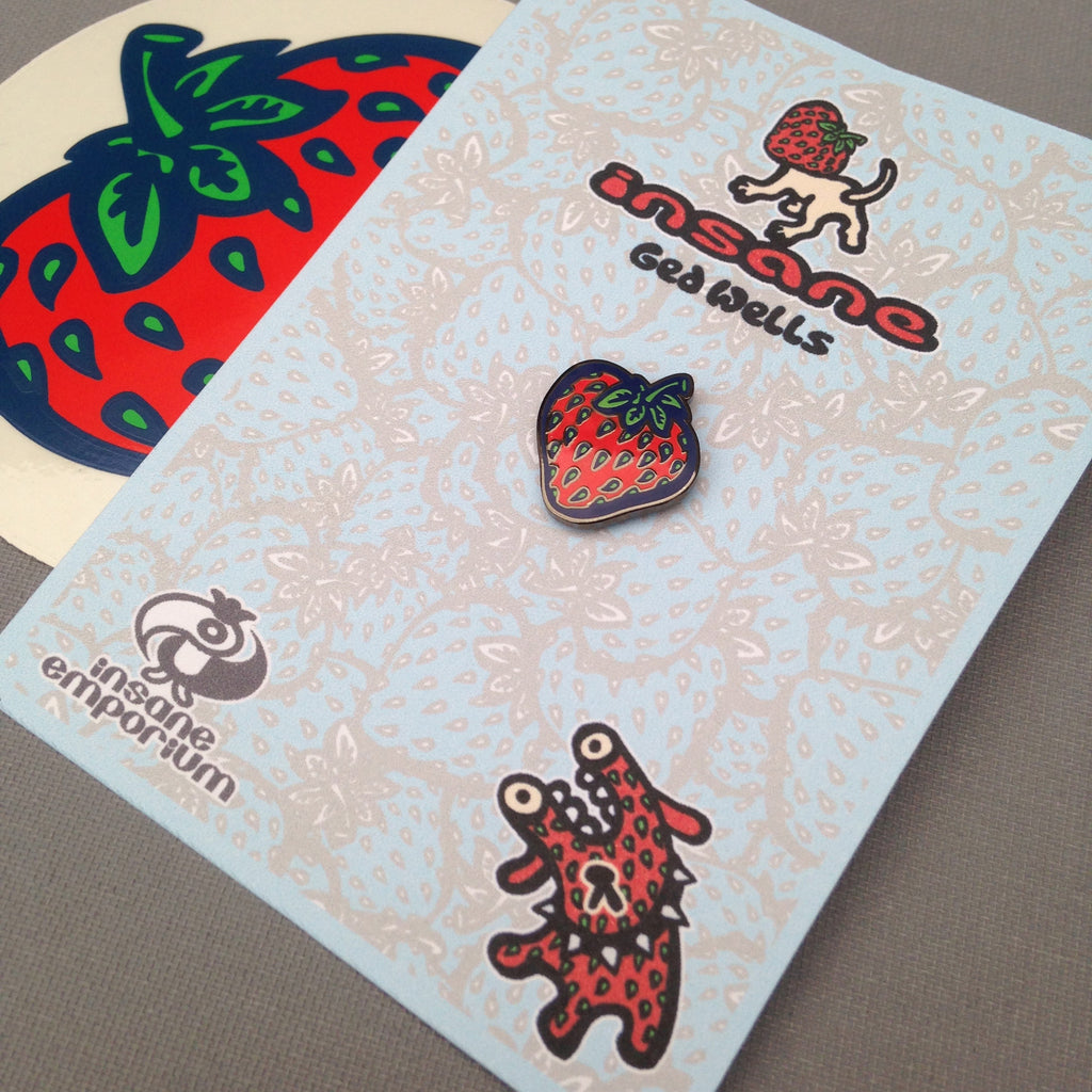 STRAWBERRY Enamel Badge