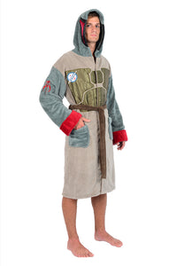 Star Wars Boba Fett Men's Hooded Bathrobe