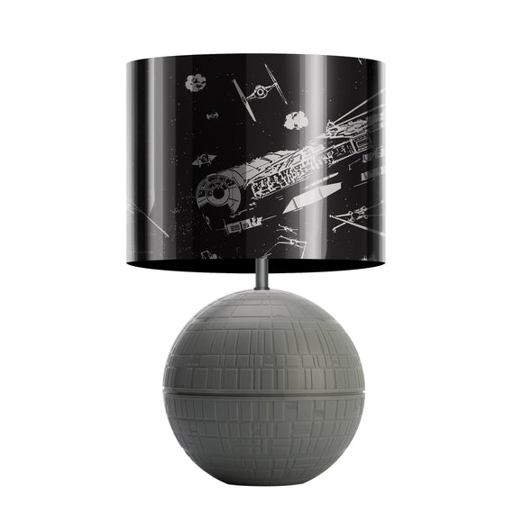 SW 3D Desk Lamp with Printed Shade - Death Star Fight Scene