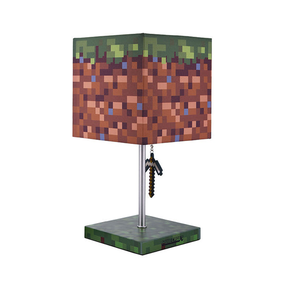 Minecraft Grass Block with Iron Pickaxe Puller