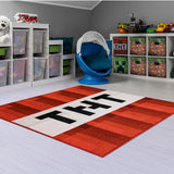 Minecraft TNT Block Area Rug