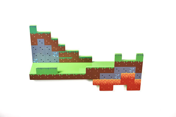 Minecraft Overworld Wall Shelf