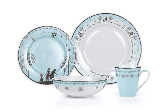 Disney Frozen 2 Anna & Elsa Ceramic Dining Set