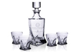 Star Trek Federation Logo Whiskey Decanter 5 Piece Set