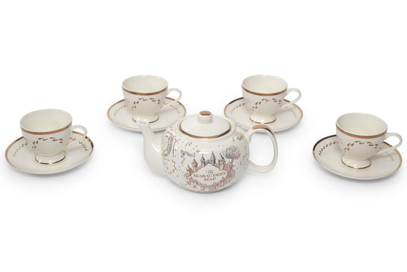 Harry Potter Marauders Map 10-Piece Porcelain Tea Set