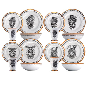 Harry Potter 16 Piece House Logos Dinner Set