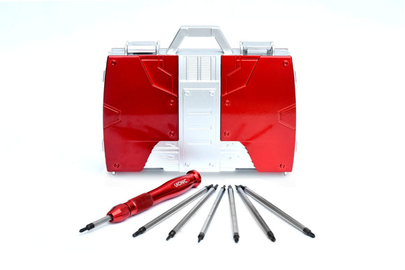 Marvel Red Iron Man Briefcase Screwdriver Set Tool Kit