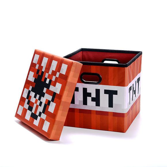 Minecraft TNT Block Storage Bin With Lid