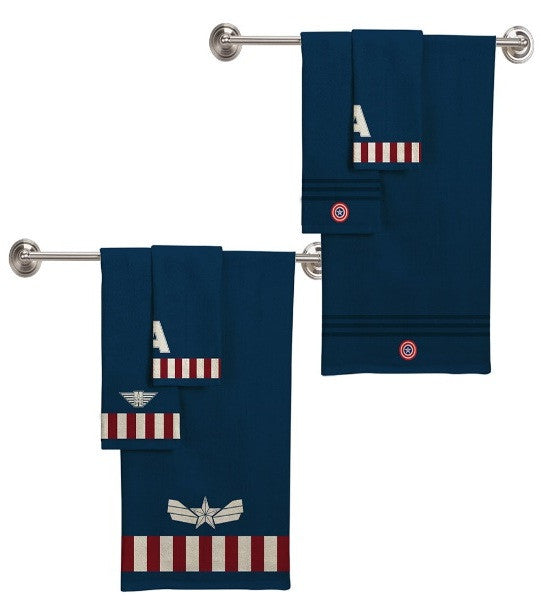 Captain America 3 Piece Bath Towel Set