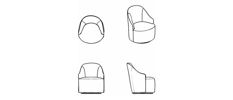 Tolina 360 Turning Armchair